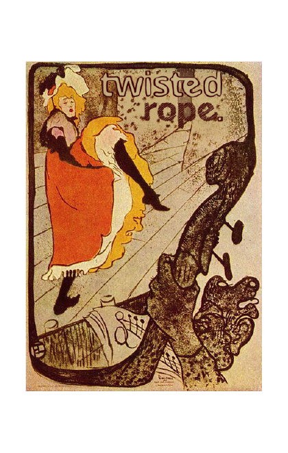Toulouse-Lautrec Twisted Art